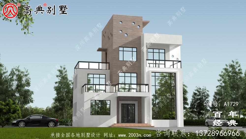 复式四层现代风别墅设计图纸_农村四层别墅设计