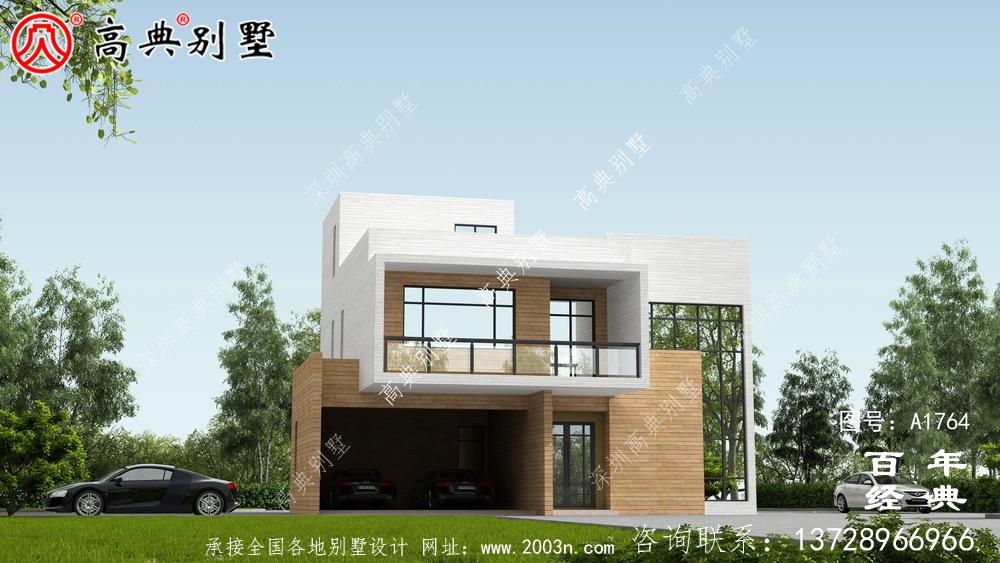 简约三层现代风别墅设计图纸_农村三层别墅设计