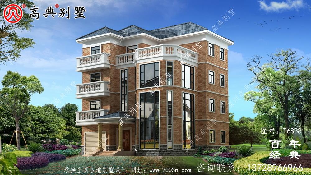复式四层大户型欧式别墅设计图_农村四层别墅设计