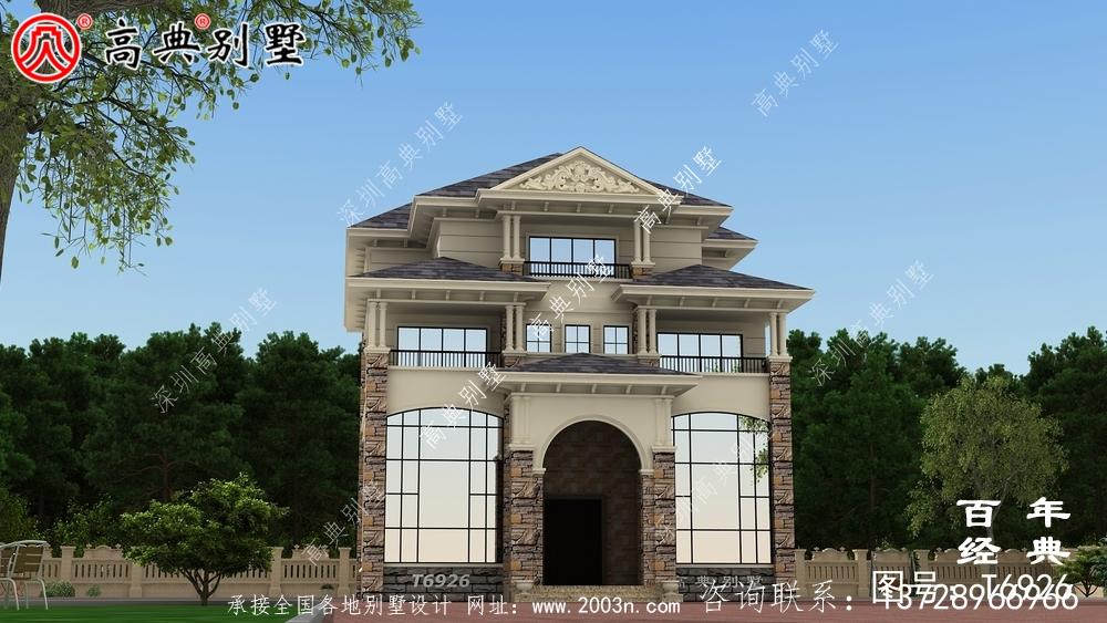 新欧式四层复式别墅设计效果图及施工图_四层别墅设计图纸
