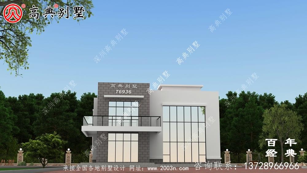 现代风格两层别墅设计图纸_别墅设计图