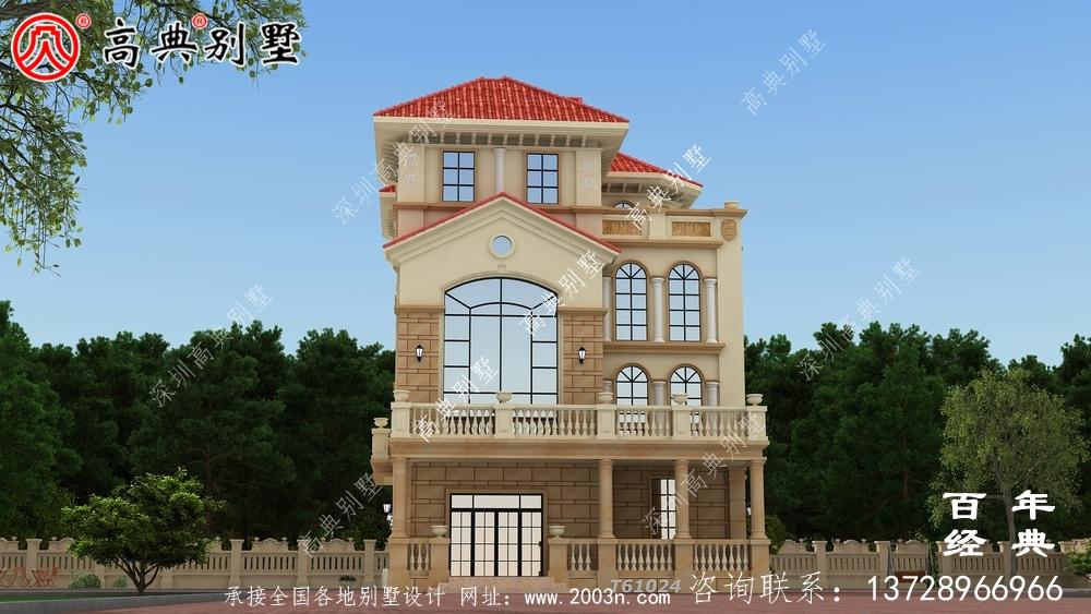 乡村四层复式别墅设计效果图_乡村四层别墅设计图