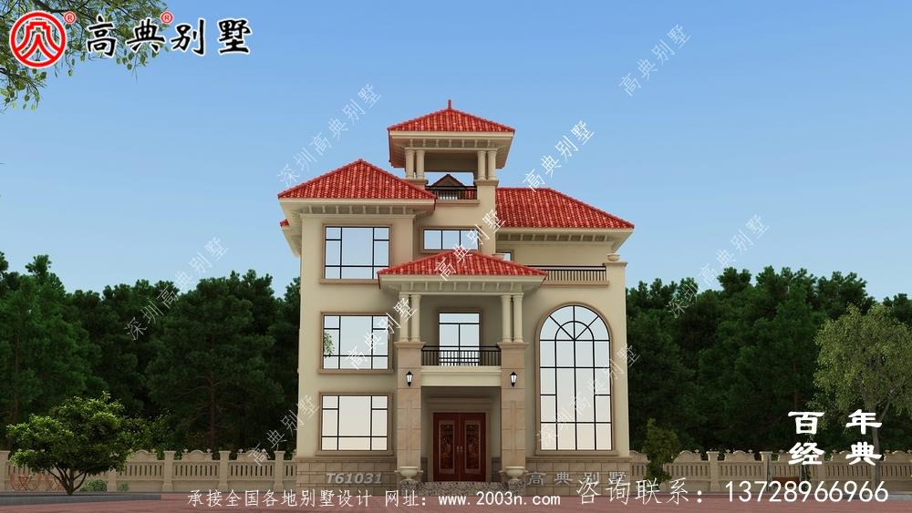 农村三层小型别墅设计图纸_农村三层别墅设计