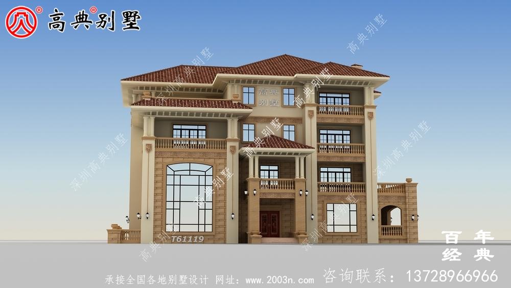 复式四层欧式别墅设计图纸与效果图大全_农村四层别墅设计