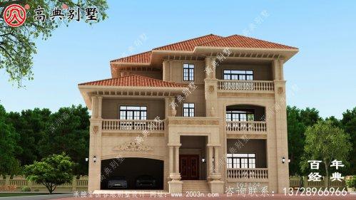 农村三层石材别墅设计