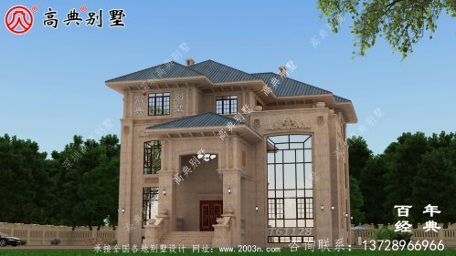 复式三层石材别墅建筑