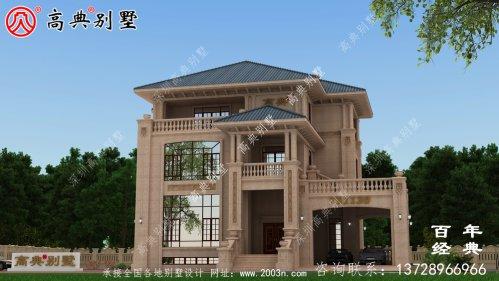豪华三层石材别墅建筑