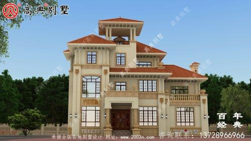 三层欧式别墅建筑设计