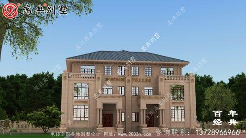 三层双拼石材别墅建筑