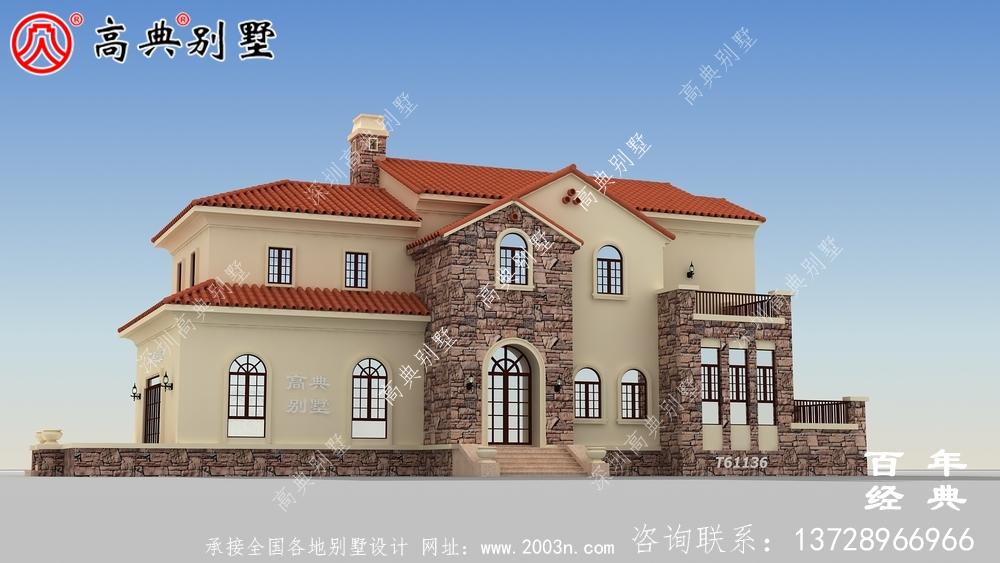 两层欧式小别墅设计图_农村两层房屋设计