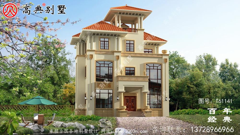 三层农村欧式别墅设计效果图_农村三层房屋设计