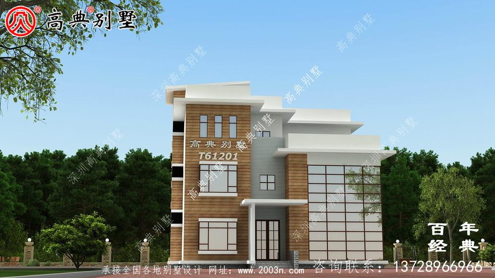 现代简约四层别墅效果图_农村四层别墅设计