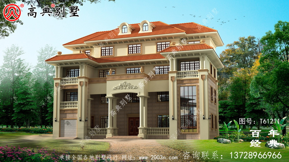 四层欧式别墅效果图大全_农村房屋设计图纸
