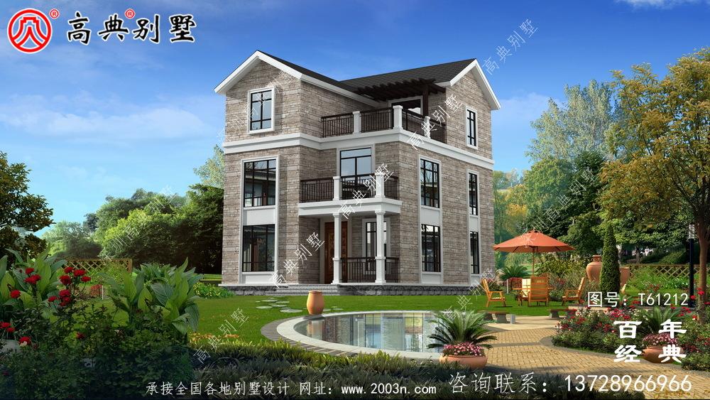 三层农村自建房别墅设计图纸_农村三层房屋设计