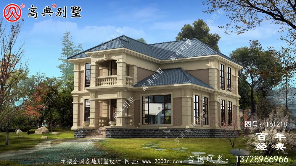 自建乡村欧式两层别墅效果图_农村两层自建房屋设计图