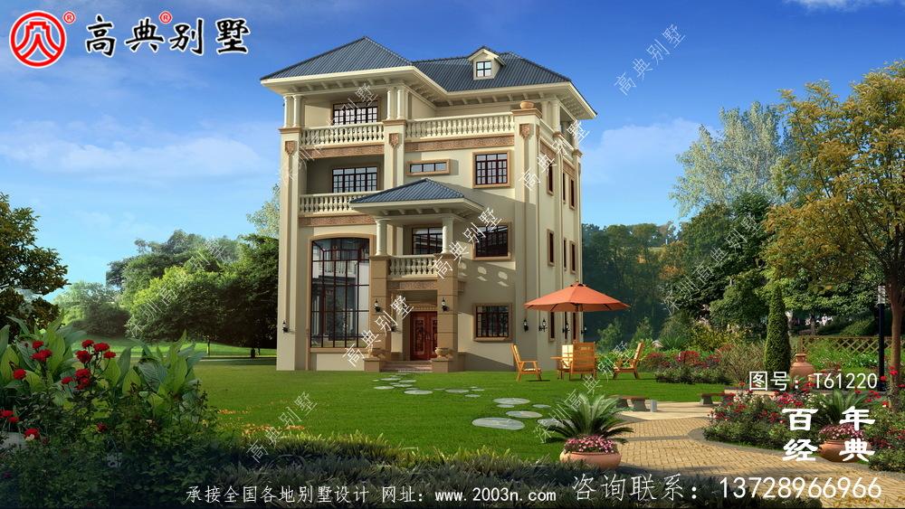 欧式四层别墅设计效果图_农村四层自建房屋设计图