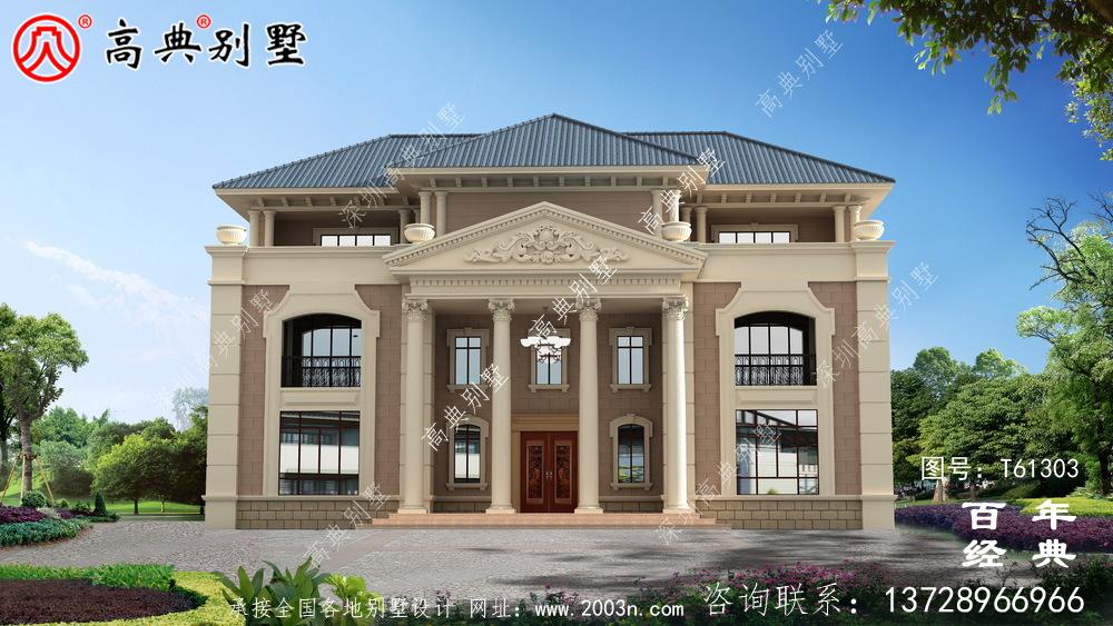 农村三层欧式别墅设计图纸及效果图_农村三层房屋设计