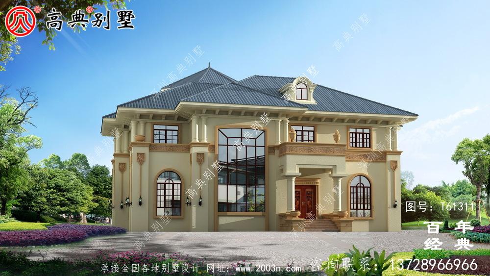 新农村复式两层欧式别墅设计图纸_农村两层自建房屋设计图