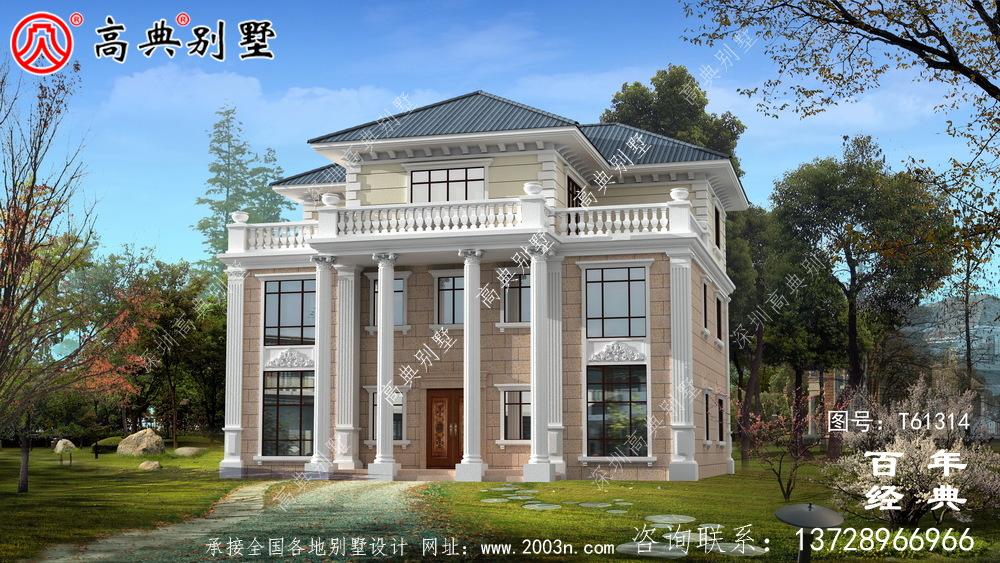 欧式三层别墅设计效果图_农村房屋设计图纸