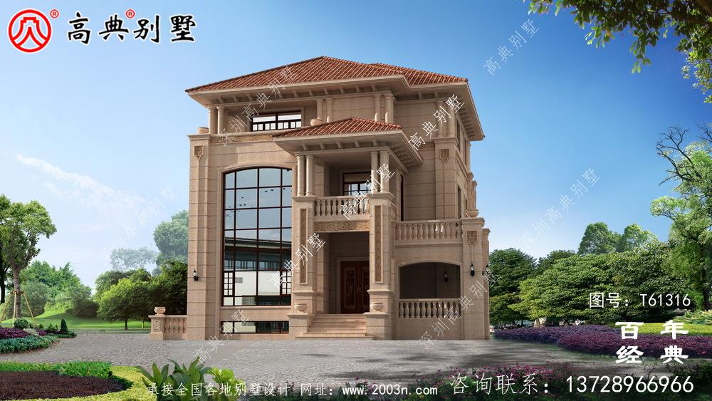 复式古典三层欧式别墅设计图纸_农村三层自建房设计图纸