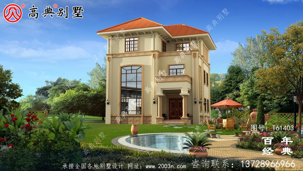 复式三层简欧别墅设计图纸_农村三层别墅设计
