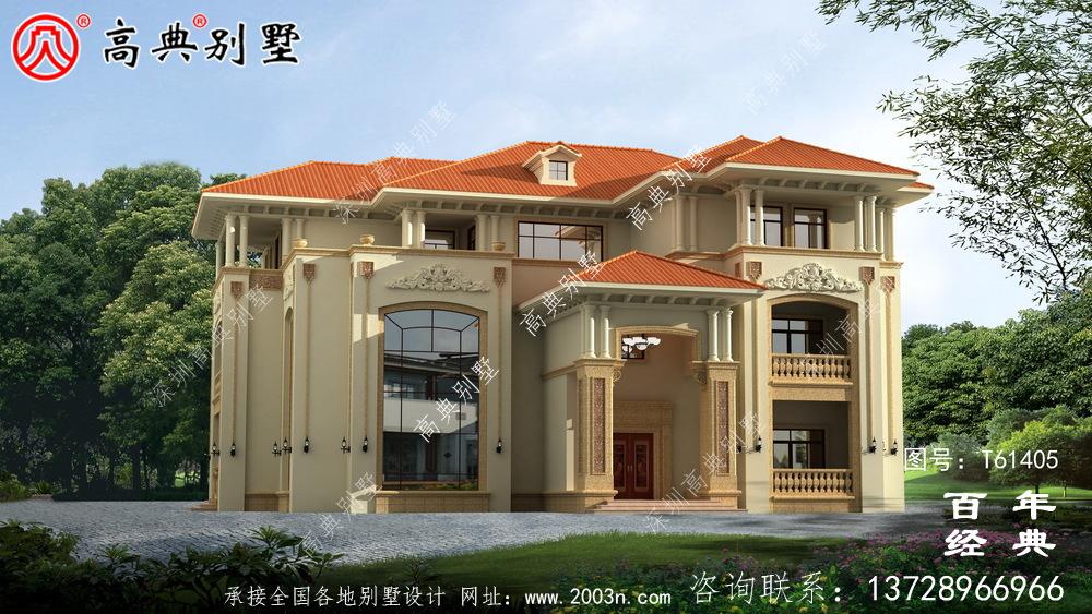 豪华复式三层欧式别墅设计图纸_农村三层自建房设计图纸