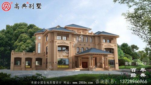 欧式四层豪华别墅设计