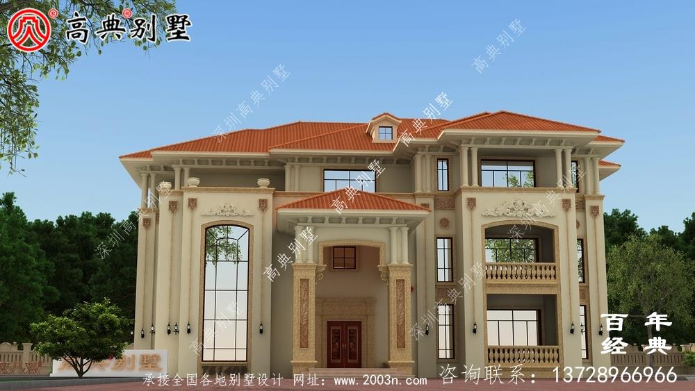 三层简约型欧式别墅设计全套图纸_三层别墅设计图纸