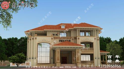 欧式三层豪华别墅设计
