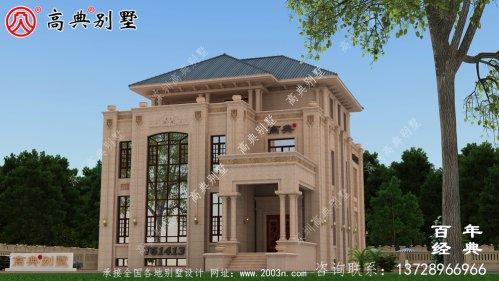 复式三层欧式别墅施工