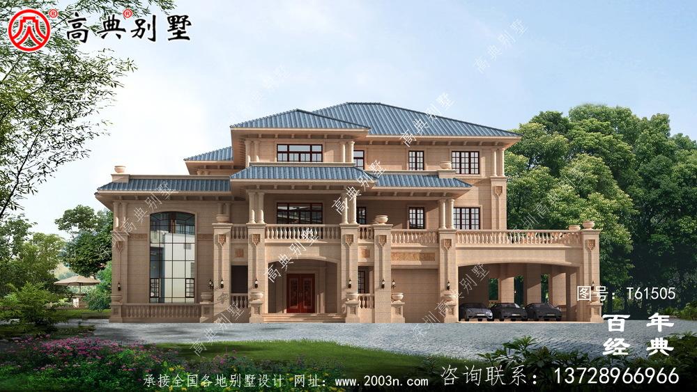 三层欧式高端别墅设计图纸及效果图_三层别墅设计图纸
