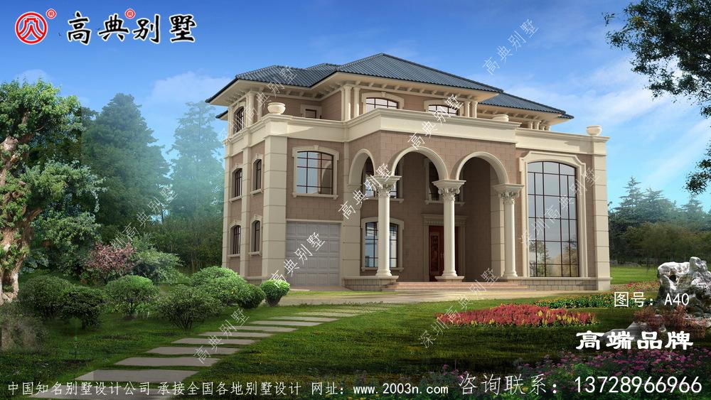 豪华三层别墅设计图,户型经典,高级大气