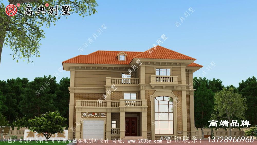 三层现代建别墅设计图
