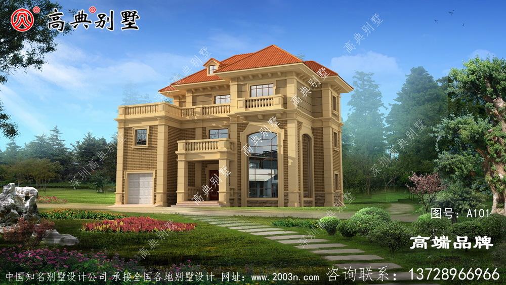 受欢迎的三层自建别墅设计图
