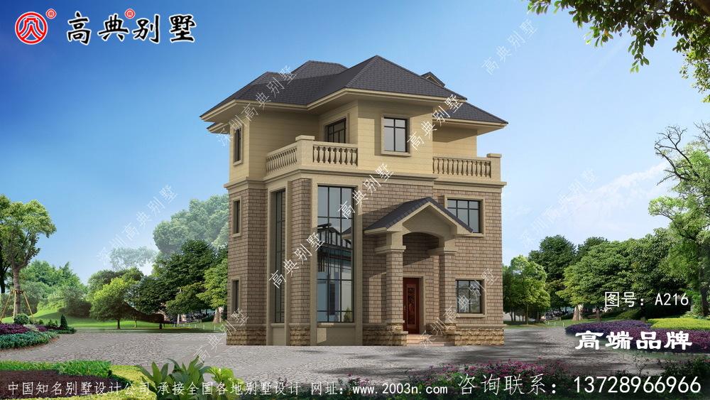 干净实用的三层别墅设计图