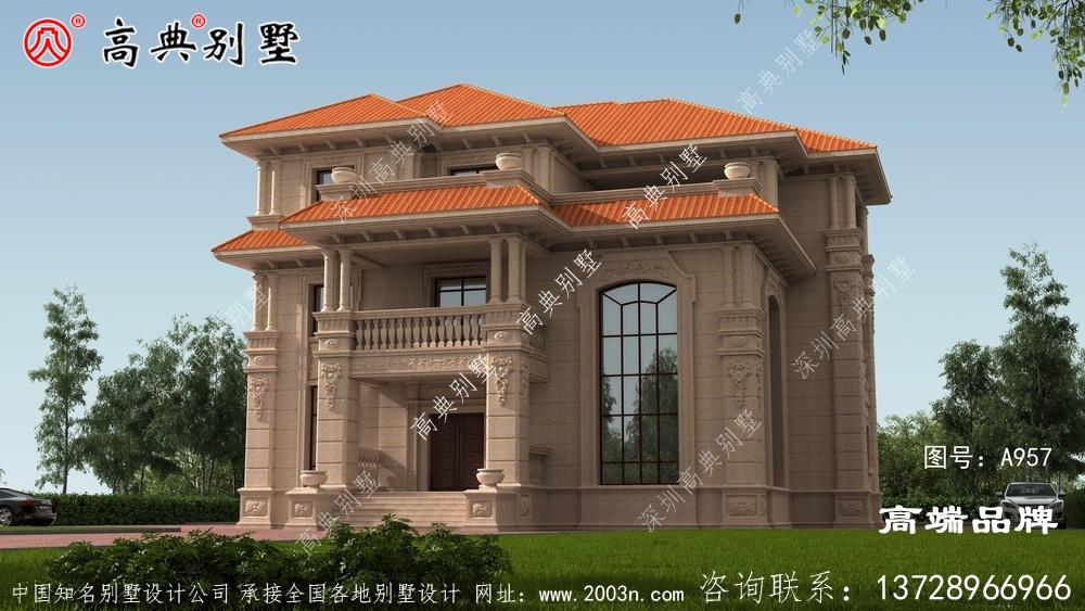 纯石材干豪华别墅设计图纸