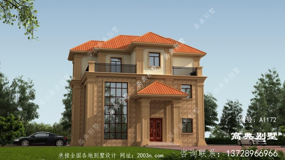 欧式三层农村自建别墅设计