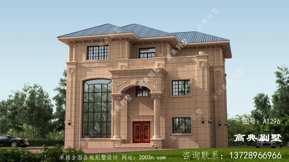 洋气别墅设计图为三层户型,外观大气
