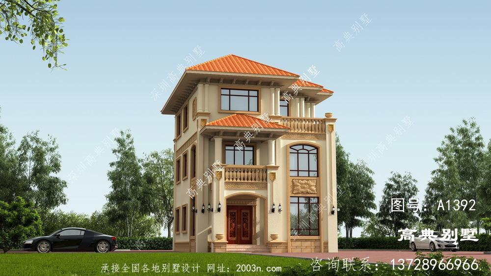欧式古典风格三层别墅住宅设计图