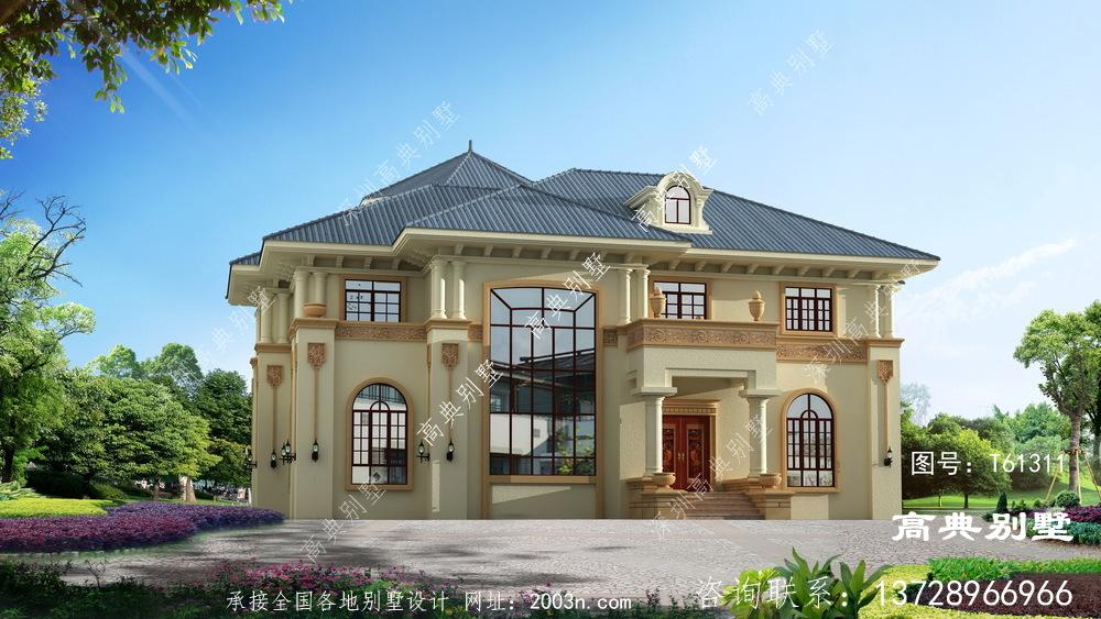 高贵典雅的两层欧式别墅设计图