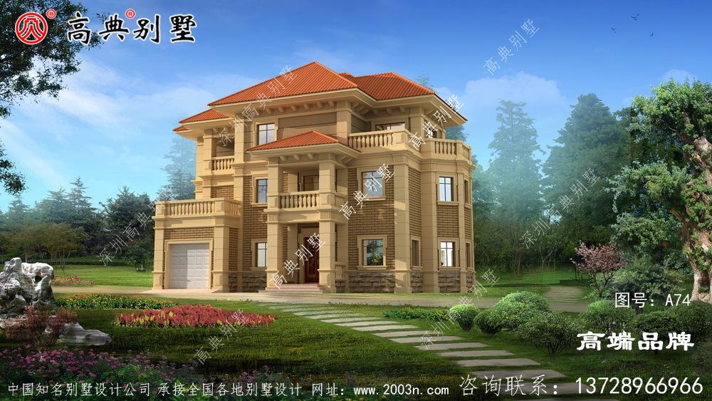 法式三层别墅设计图