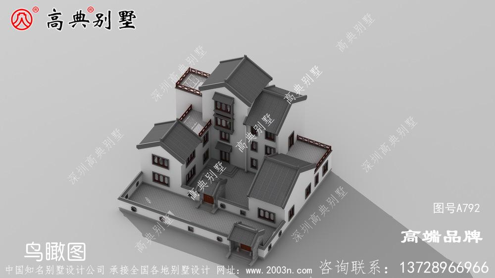 中式四层村庄新别墅设计图