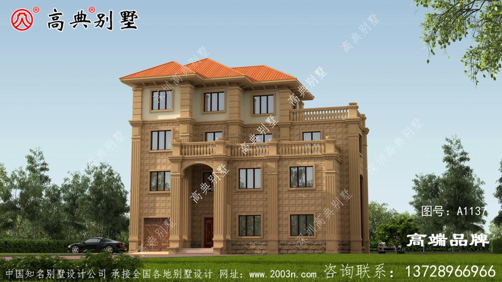 四层别墅外观设计效果图