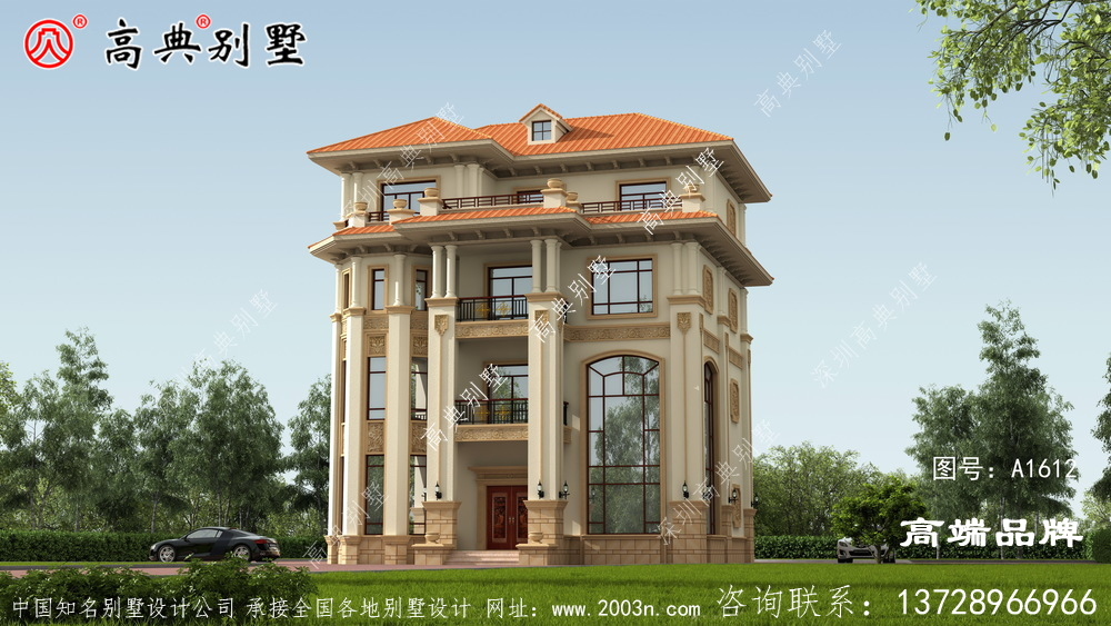 漂亮有型的欧式四层别墅