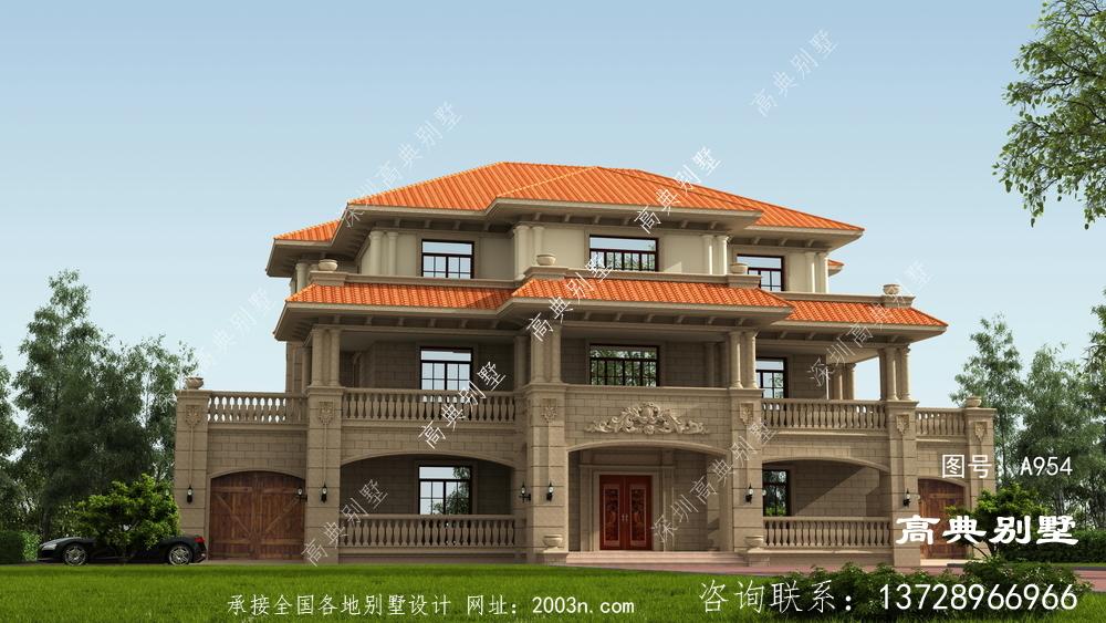 简欧风格三层别墅设计图