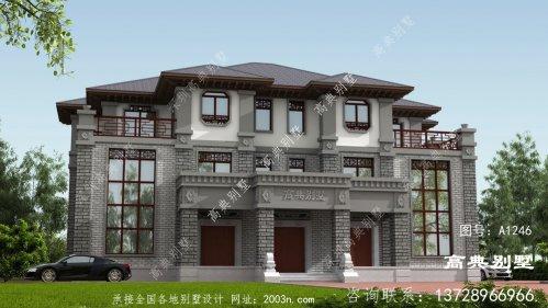 新中式风格双拼别墅设