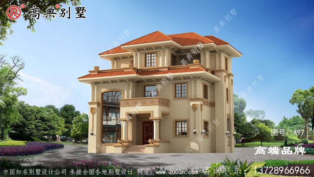 意大利风格三层别墅设计图,复式大厅设计