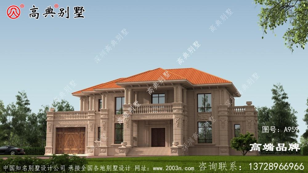 复式两层别墅,建欧式石材的奢华大气