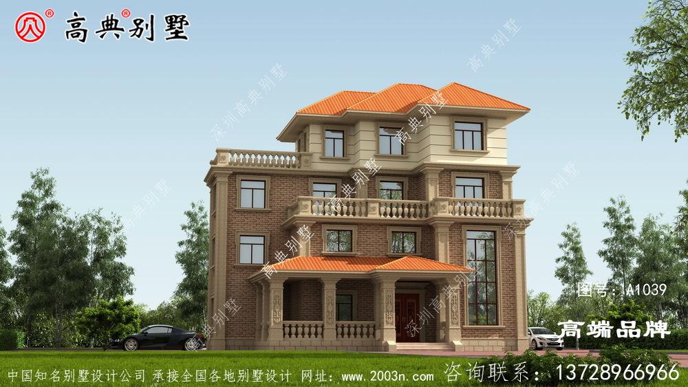 新农村自建欧式风格四层复式别墅设计图纸