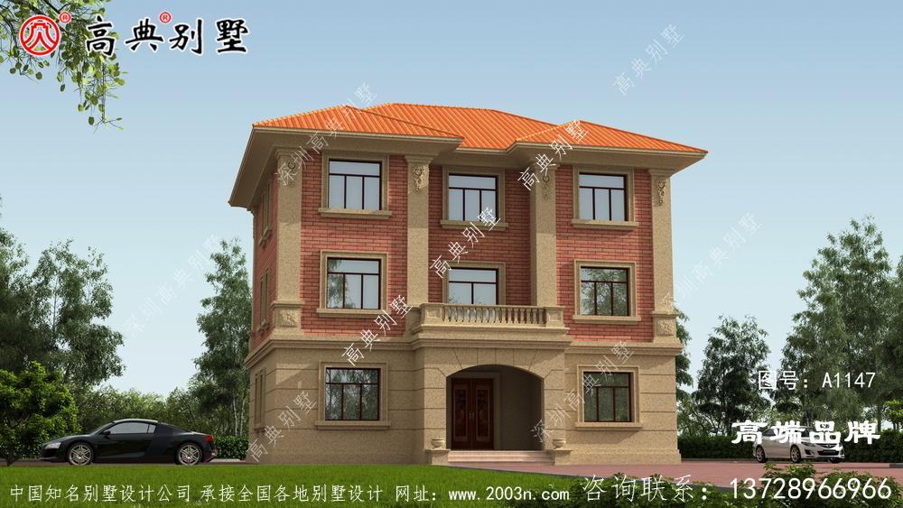 欧式风格三层别墅外观设计图